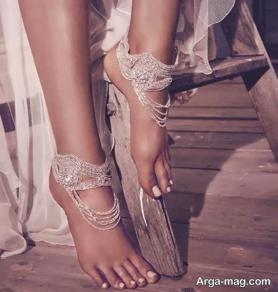 طرح های زیبا و دوست داشتنیی پابند عروس
