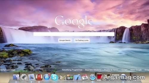 تغییر بک گراند گوگل کروم