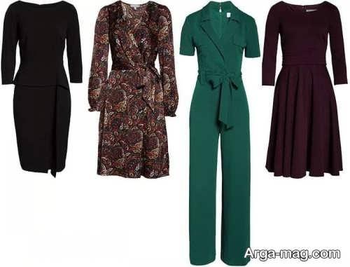 طرح های لباس برای اندام ساعت شنی
