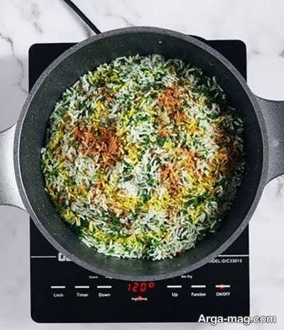 دستور پخت سبزی پلو با ماهی