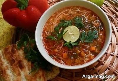 روش پخت سوپ رشته فرنگی