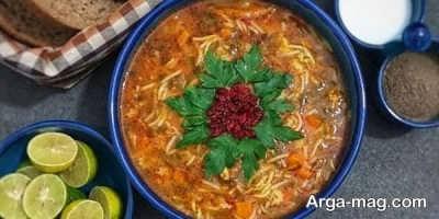 طرز تهیه سوپ رشته فرنگی