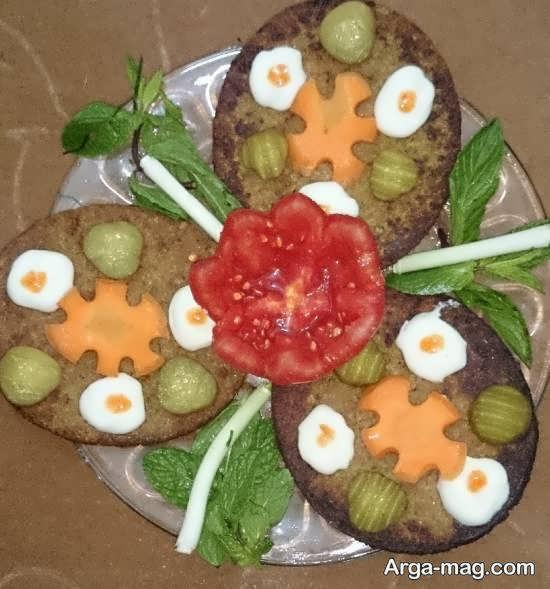 نمونه هایی متفاوت و زیبا از تزیینات همبرگر