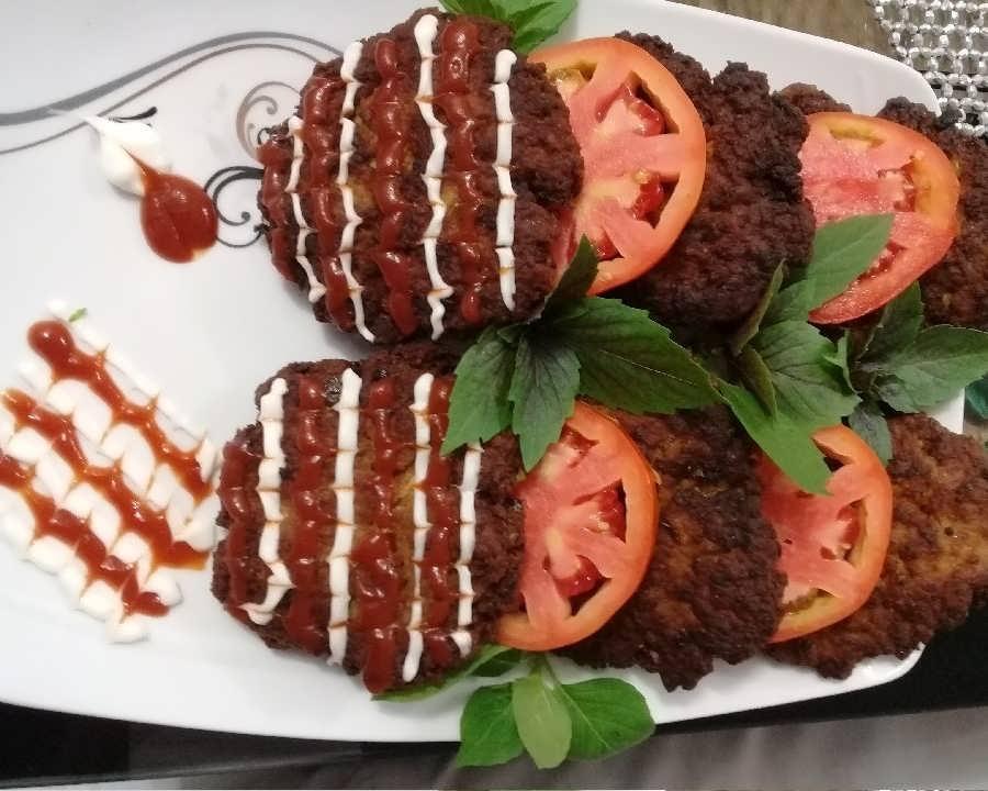 انواع طرح های تزیین همبرگر