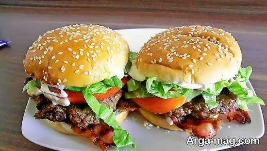 دیزاین و طراحی همبرگر خوشمزه