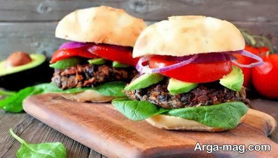 انواع الگوهای تزیینات همبرگر