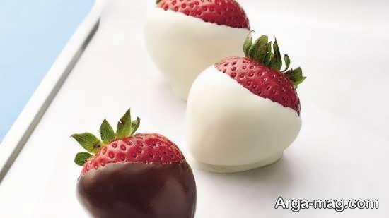 نمونه هایی ایده آل و ناب از تزیینات میوه با شکلات