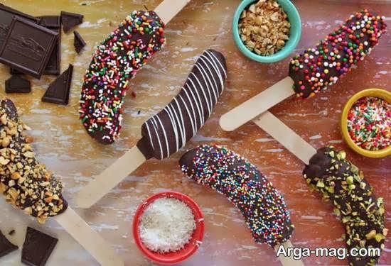 دیزاین دلچسب میوه با شکلات