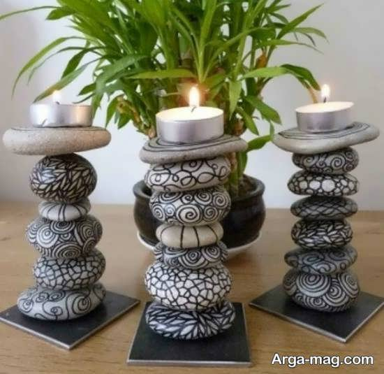 ایده های باسلیقه و هنرمندانه تزیین خانه با سنگ