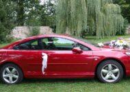 تزیین ماشین عروس قرمز