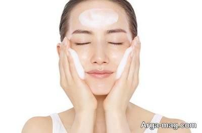 شستن صورت با استفاده از ژل های فیس واش