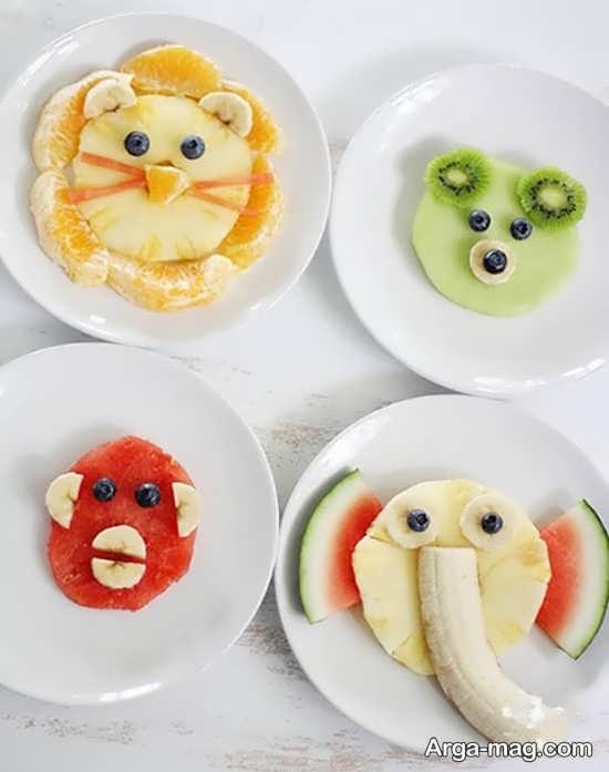 انواع جدید تزیین میوه برای کودکان