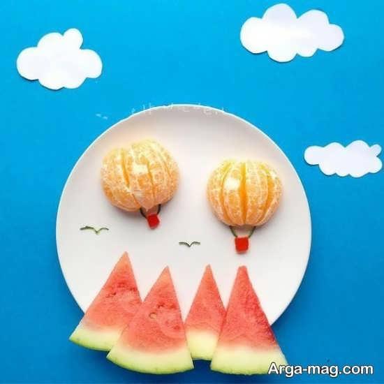 انواع زیبا دیزاین میوه برای کودکان