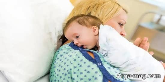 مزایای آروغ زنی نوزاد