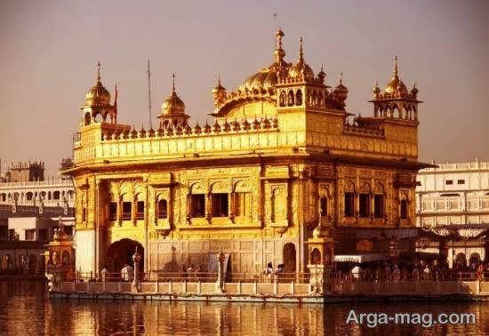 عبادتگاه مشهور و معروف طلایی هند