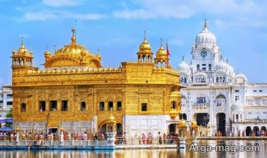 عبادتگاه طلایی هند با رویه طلایی