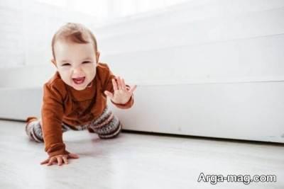 سعی کنید تمام خانه را با فرش و موکت بپوشانید تا کودک آسیب نبیند.