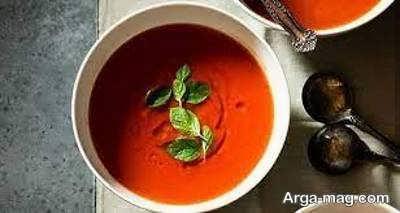 آموزش طرز تهیه سوپ گوجه