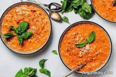 آموزش شیوه ی تهیه سوپ گوجه