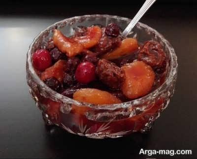 دستور تهیه ترشی میوه خشک