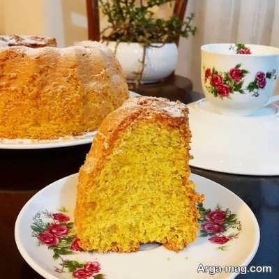 آموزش تهیه کیک گلاب