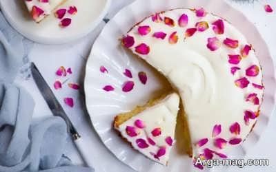 نحوه تهیه کیک گلاب و زعفران