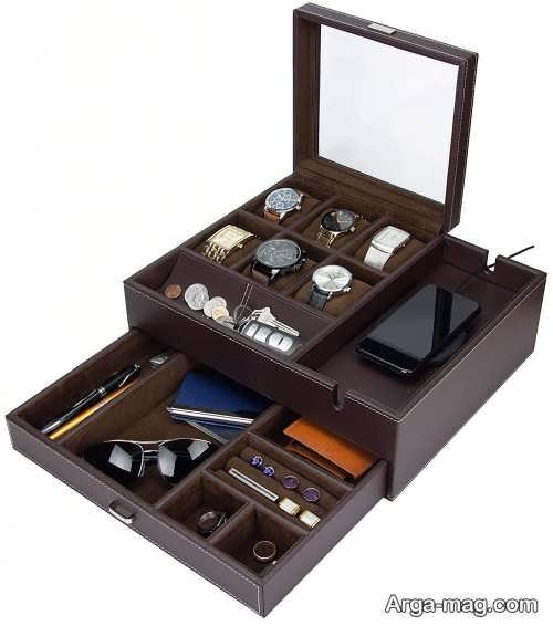 جعبه جواهرات قهوه ای