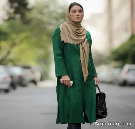 مانتوی سبز هدیه تهرانی