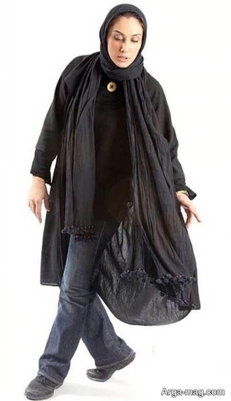 مانتوی مشکی هدیه تهرانی
