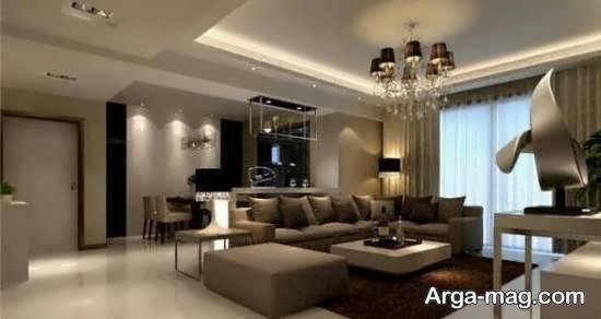 طراحی زیبا و جذاب خانه به رنگ نسکافه ای