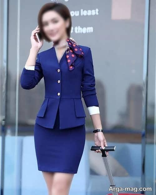 کت دامن ساده و تک رنگ