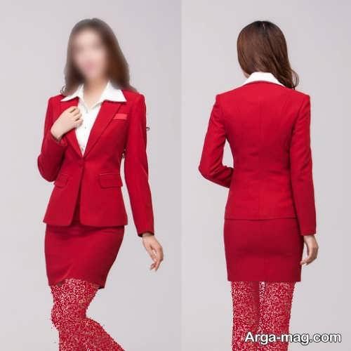 کت و دامن قرمز