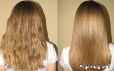 صاف کردن مو ها با نرم کننده