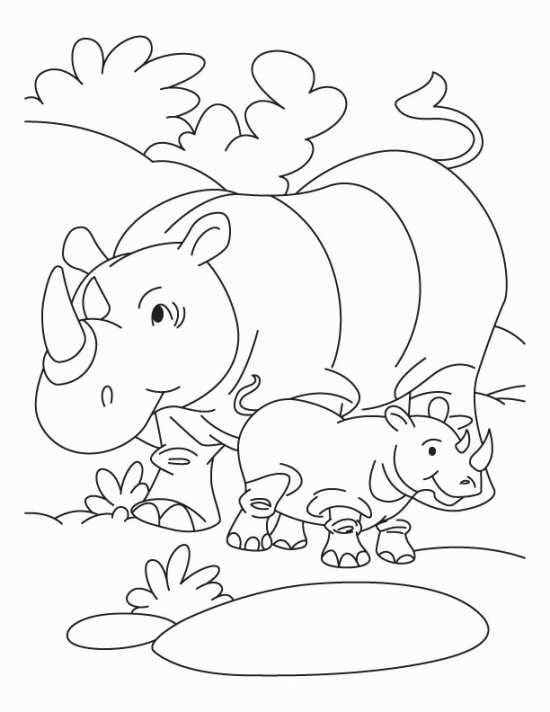 نقاشی کودکانه کرگدن
