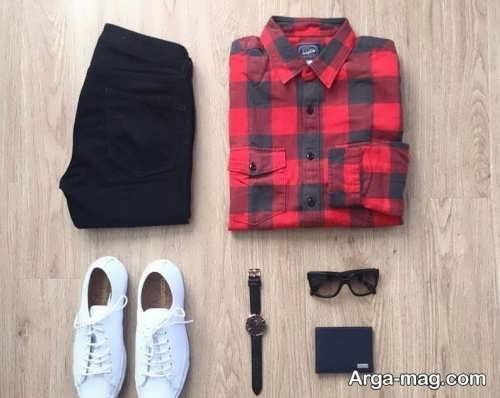 ست پیراهن و شلوار اسپرت مردانه