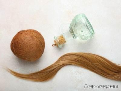 تقویت مو با روغن نارگیل