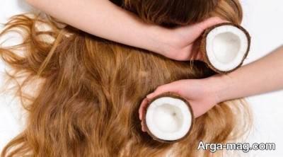 شفاف شدن مو ها با روغن نارگیل