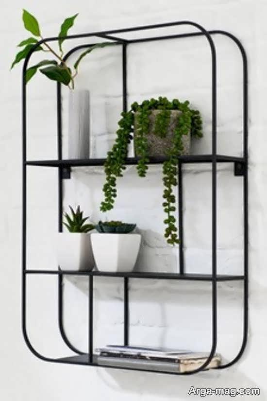 انواع نمونه های زیبا و منحصر به فردشلف دیواری برای گلدان