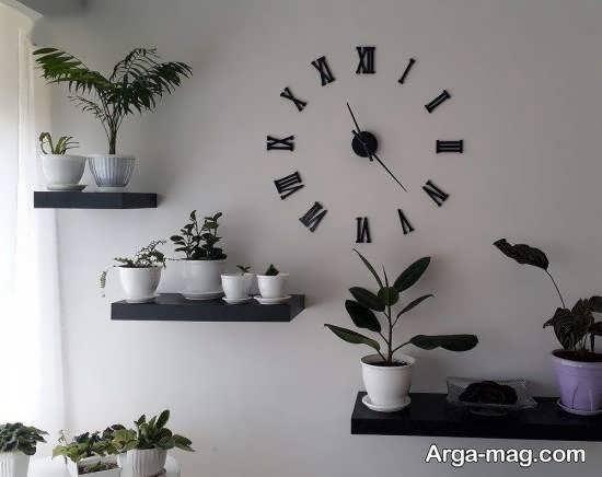 قفسه یا طبقه دیواری برای گلدان
