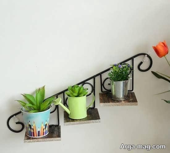 نمونه های ایده آل شلف دیواری برای گلدان