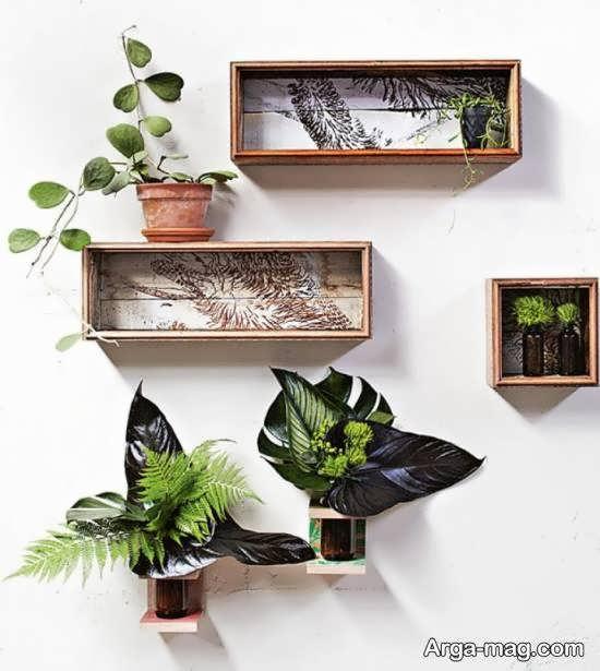 ایده های بینظیر و خاص از قفسه دیواری برای گلدان