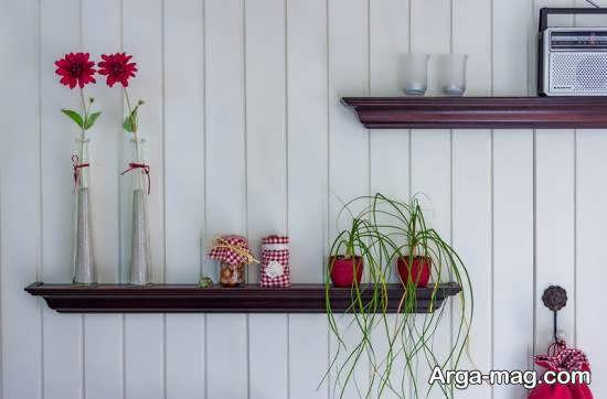 الگوهایی ایده ال از شلف دیواری واسه گلدان