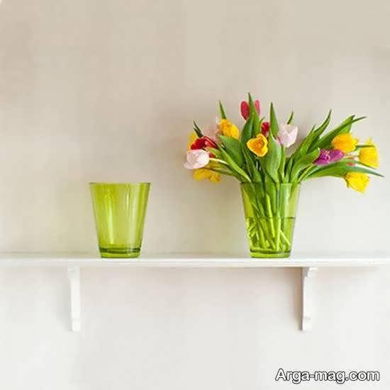 نمونه هایی جذاب از شلف دیواری برای گلدان