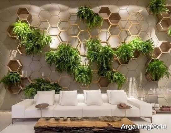 شلف دیواری برای گلدان