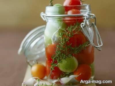 طرز تهیه ترشی گوجه گیلاسی