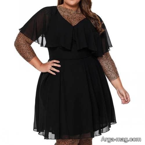 لباس مجلسی مشکی برای خانم های چاق