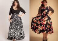 لباس مجلسی پوشیده برای افراد چاق