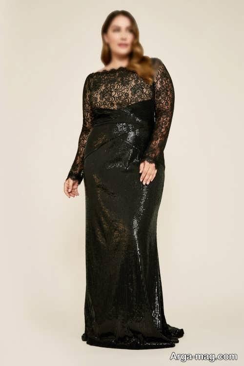 مدل لباس مجلسی بلند و رنگ تیره