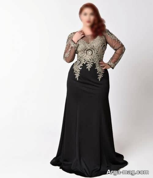 لباس مجلسی پوشیده برای افراد چاق در انواع مدل های شیک