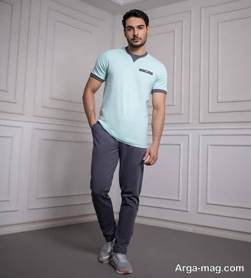 ست لباس راحتی مردانه با ست رنگ های جذاب و جدید